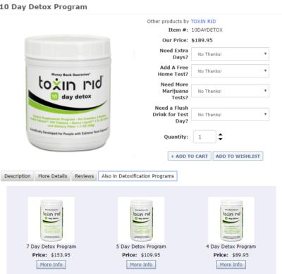 Toxin Rid 10 day detox